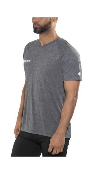 Skins Plus Vector Koszulka do biegania z krótkim rękawem Mężczyźni szary